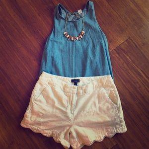 White shorts size 6